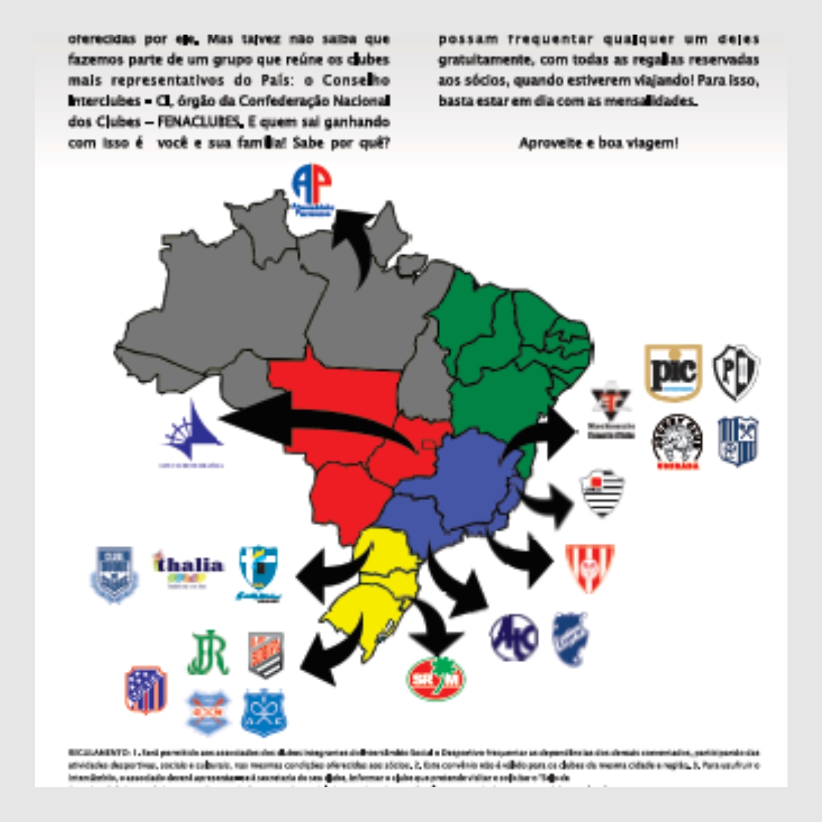 Anúncio - Mapa Clubes do Brasil (PDF) 18ac89be75c45