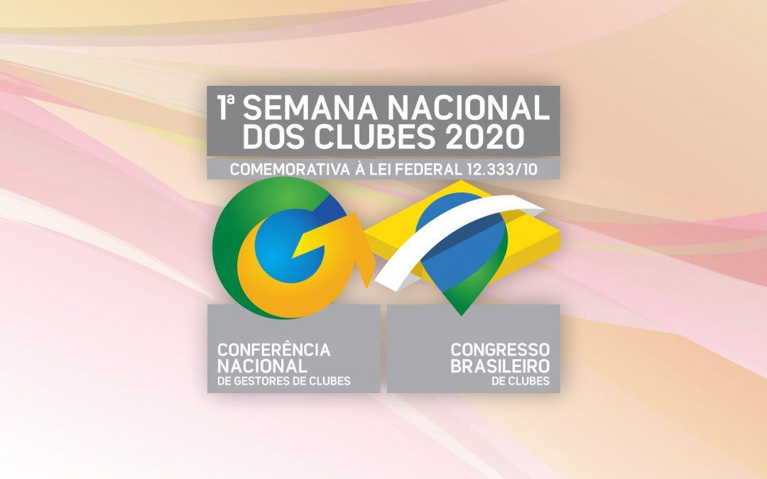 Debates fundamentais durante a 1ª Semana Nacional dos Clubes