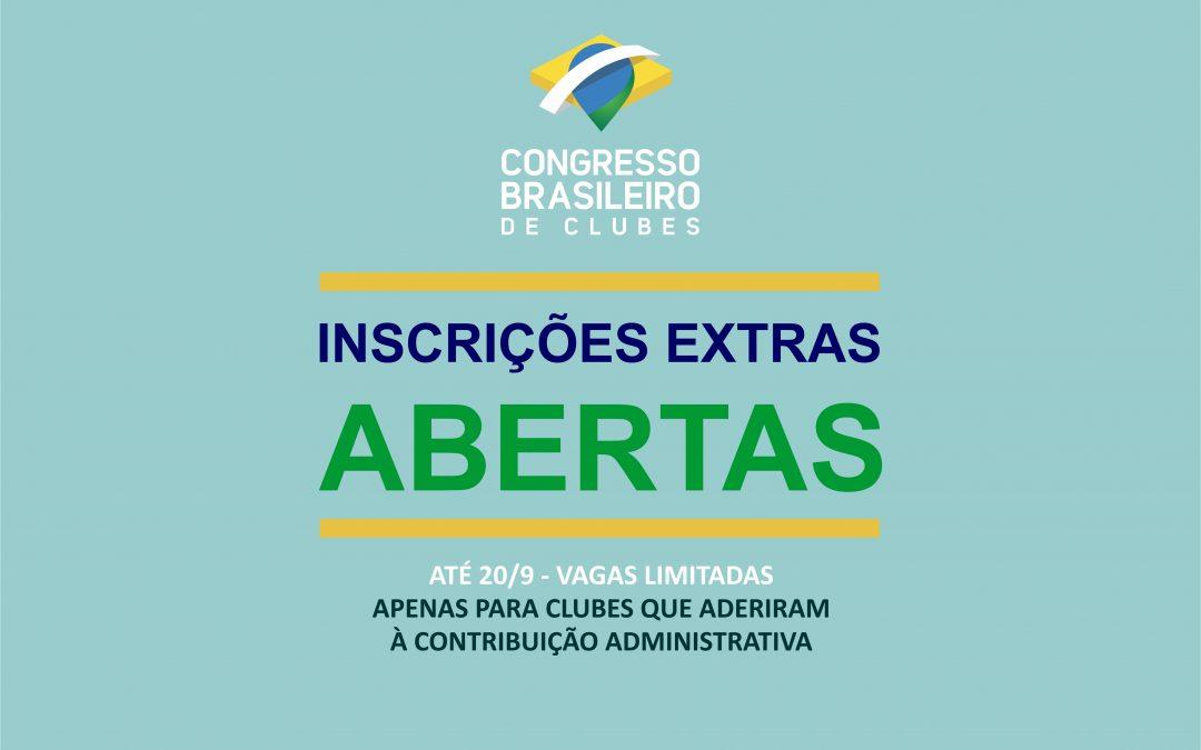 Inscrições Extras para o Congresso estão abertas!